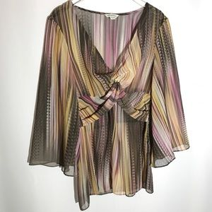 Boston Proper Sheer Top Size Small